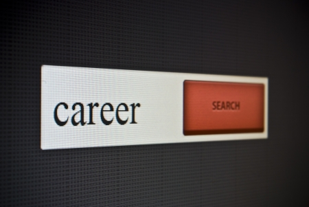 Internet search bar with phrase career photo