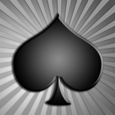 Spades, playing or gambling cards symbol photo