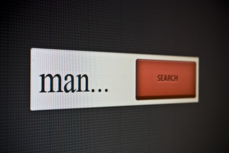 Internet search bar with phrase man Stock Photo - 22520049