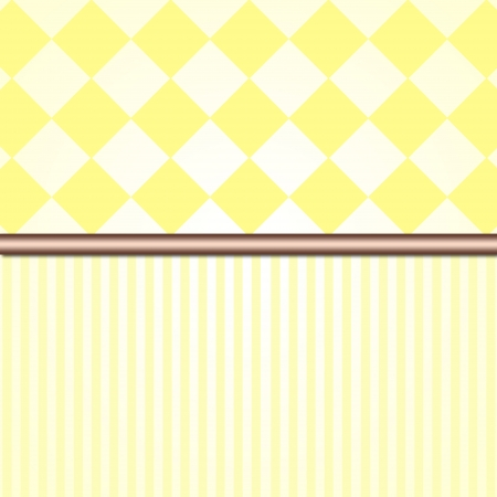 Yellow retro or vintage striped wall background photo