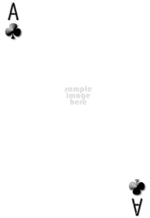 Ace of clubs blank gambling card with empty space for photo photo