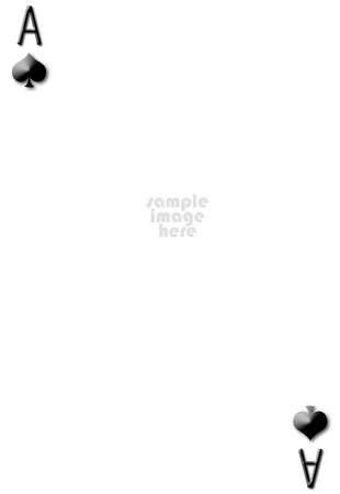 Ace of spades blank gambling card with empty space for photo photo