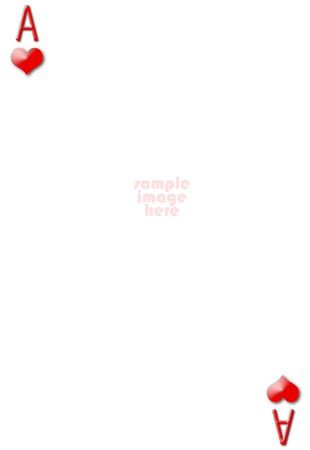 Ace of hearts blank gambling card with empty space for photo photo