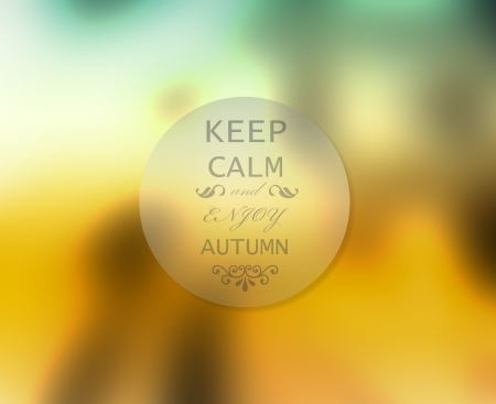 keep: Abstract autumn or fall concept of badge with inscription