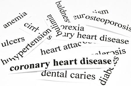 ulceras: Enfermedades del coraz�n Concepto de salud coronaria de las enfermedades causadas por una nutrici�n saludable