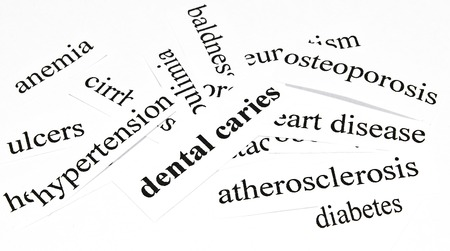 dental caries: Dental caries  Health care concept of diseases caused by unhealthy nutrition