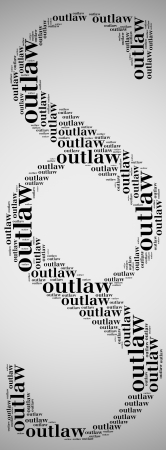 Tag or word cloud law related in shape of paragraph photo