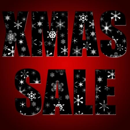 Christmas sale inscription against snowflakes photo