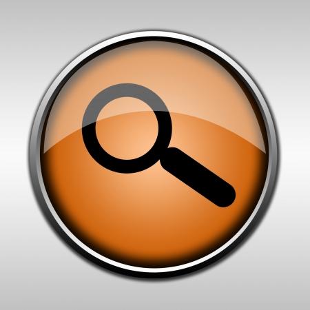 Orange glossy search button