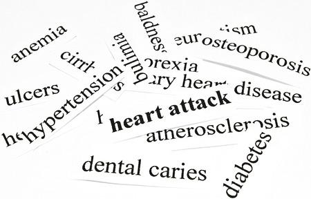 ulceras: Ataque al coraz�n Concepto de salud de las enfermedades causadas por una nutrici�n saludable Foto de archivo