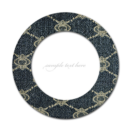 Concept of circle with damask pattern and empty place for text photo