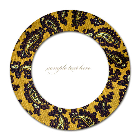 Concept of circle with paisley pattern and empty place for text photo