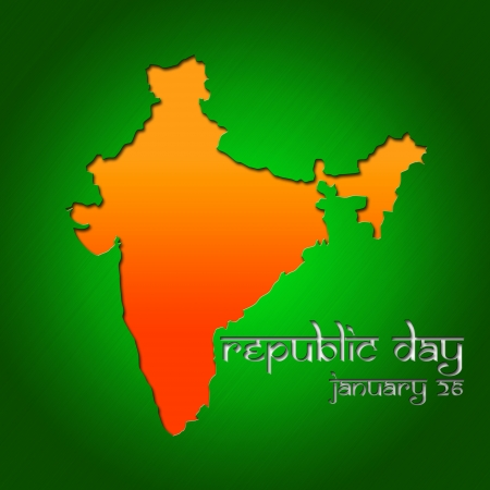 Graphic design Republic Day in India related in shape of country silhouette