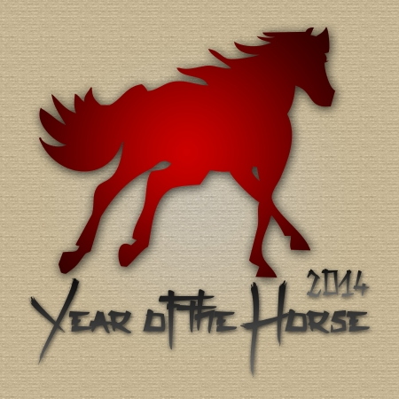 Graphic design Horse Year in China related Stock Photo