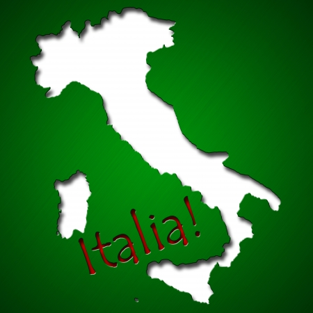 Graphic design in shape of Italy country photo