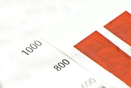 Chart or diagram in newspaper or printed media photo