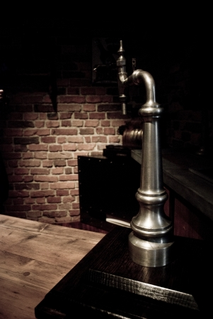 brewery: Tychy, Poland - Circa January 2010  Brewing museum in Tychy, Silesia  Old beer tap used for pouring