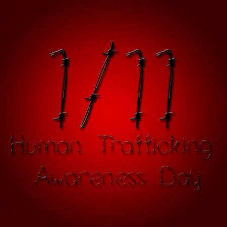 social awareness symbol: Graphic design human trafficking awareness day related
