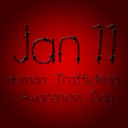female prisoner: Graphic design human trafficking awareness day related