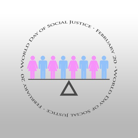Graphic design World Day of Social Justice related  Celebrated on 20 February photo