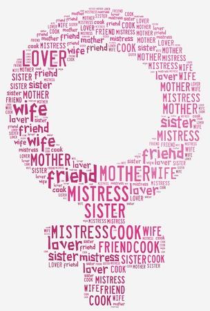 womenīŋŊs: Graphic design Women s day related Stock Photo