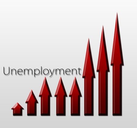 macroeconomic: Chart illustrating unemployment growth, macroeconomic indicator concept