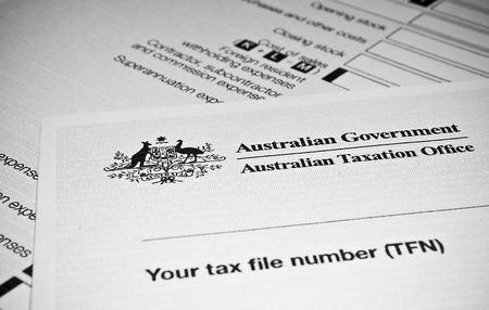 Australische Individuele aangiftebiljet Stockfoto