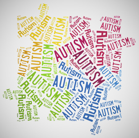Word cloud Autism related photo