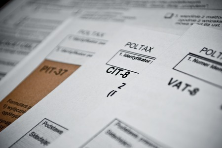 Blank income tax forms  Polish forms PIT CIT and VAT