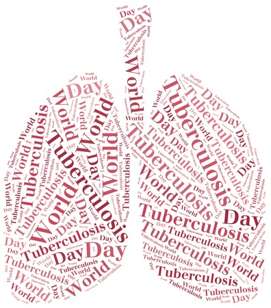 pharyngitis: Word cloud World Tuberculosis Day related  Healthcare concept of respiratory system disease  Stock Photo