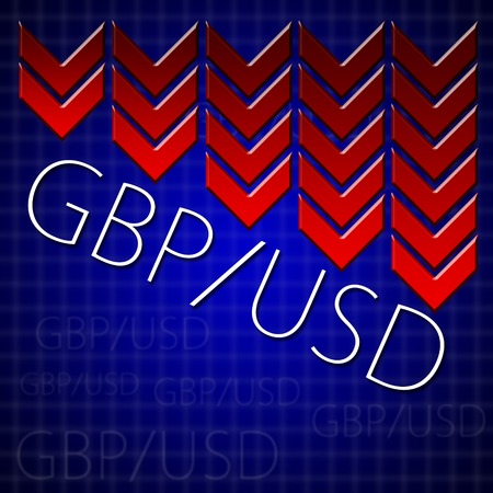 Graphic design trading related illustrating currency drop