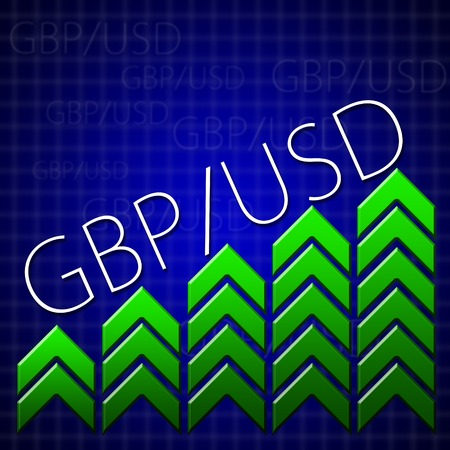 Graphic design trading related illustrating currency growth photo