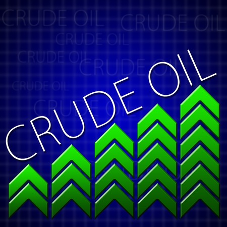 brent crude: Graphic design trading related illustrating commodity growth Stock Photo