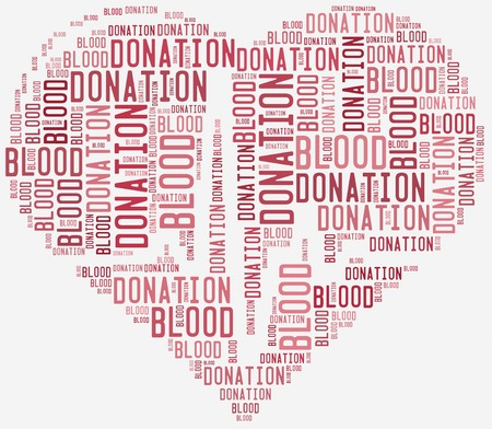Word cloud blood donation related photo