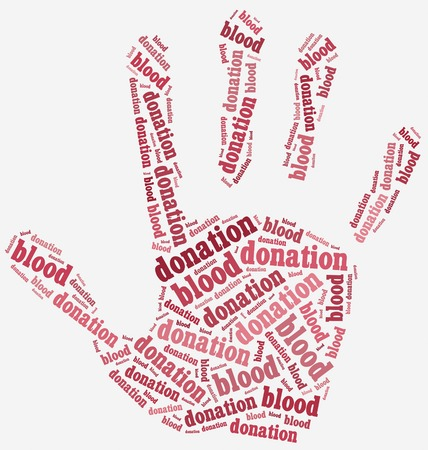 blood sample: Word cloud blood donation related