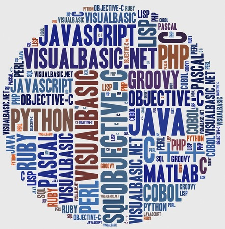 java script: Word cloud programming languages or IT related