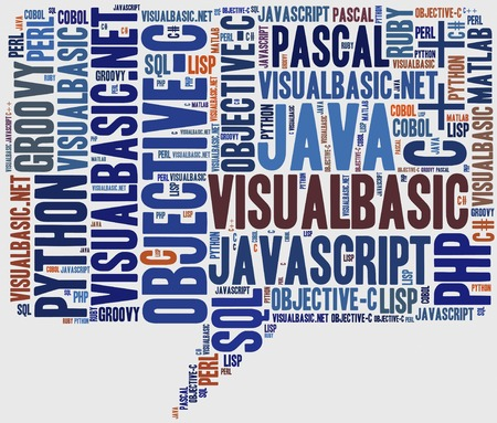 Word cloud programming languages or IT related photo