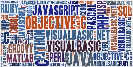 pascal: Word cloud programming languages or IT related