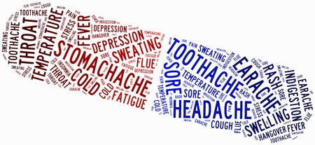 ailment: Word cloud popular ailment or sickness related