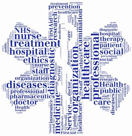 salud publica: Nube de palabras NHS o servicio de salud p�blica relacionados
