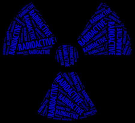 Word cloud radioactivity or chemical waste related photo