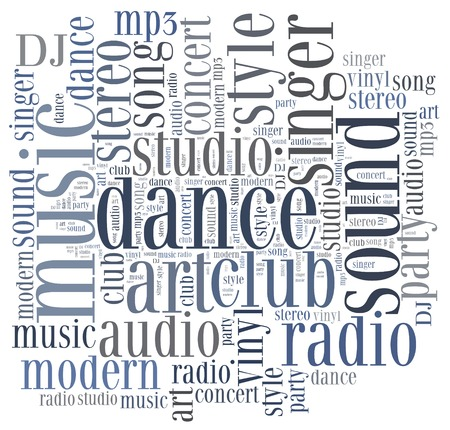 dubstep: Word cloud concept music related