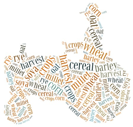 Word cloud crops related photo