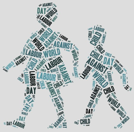 Word cloud related to World Day Against Child Labour photo