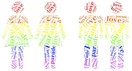 Word cloud illustration homosequality related illustration
