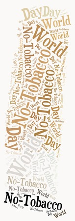 Word cloud related to World No-Tobacco Day photo
