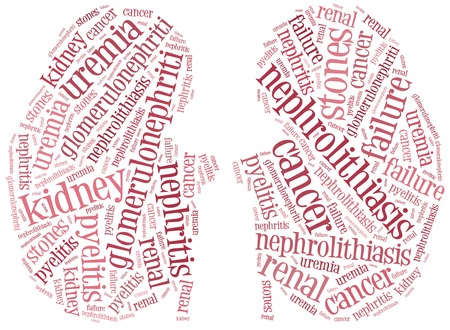 cancer: Word cloud illustration kidney diseases related