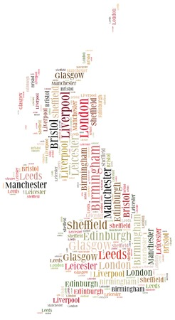 Tourism concept of country United Kingdom and big cities photo