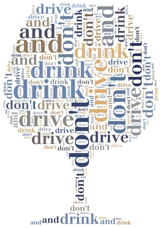 Graphic design or word cloud against drunk drivers photo