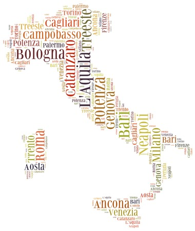 Tourism concept of country Italy and big cities photo